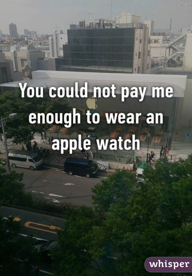 You could not pay me enough to wear an apple watch