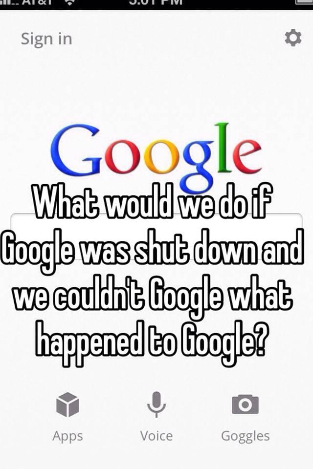 What would happen if google shut down