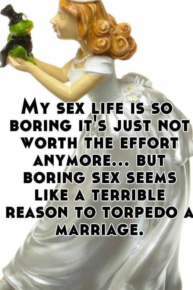 Married sex life getting boring