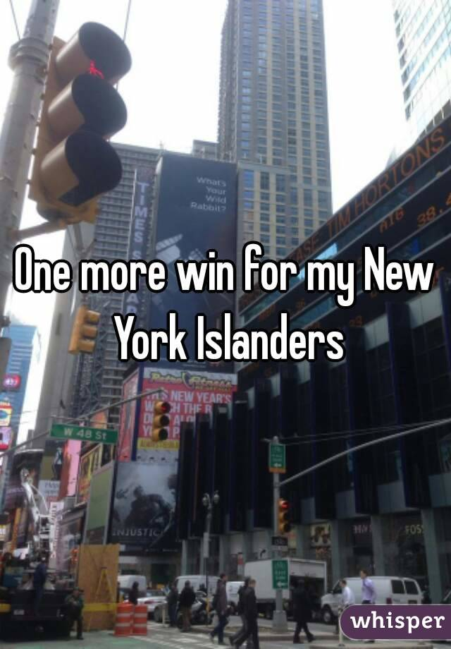 One more win for my New York Islanders