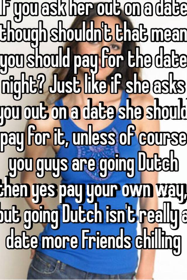 What does going dutch mean on a date