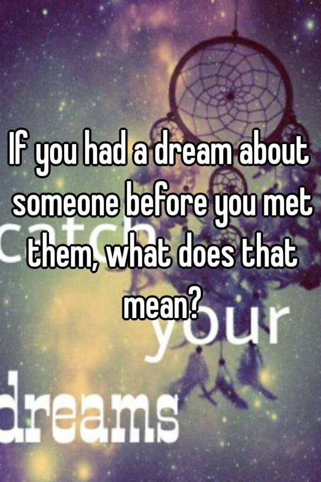 from Marco what does a dream about dating mean