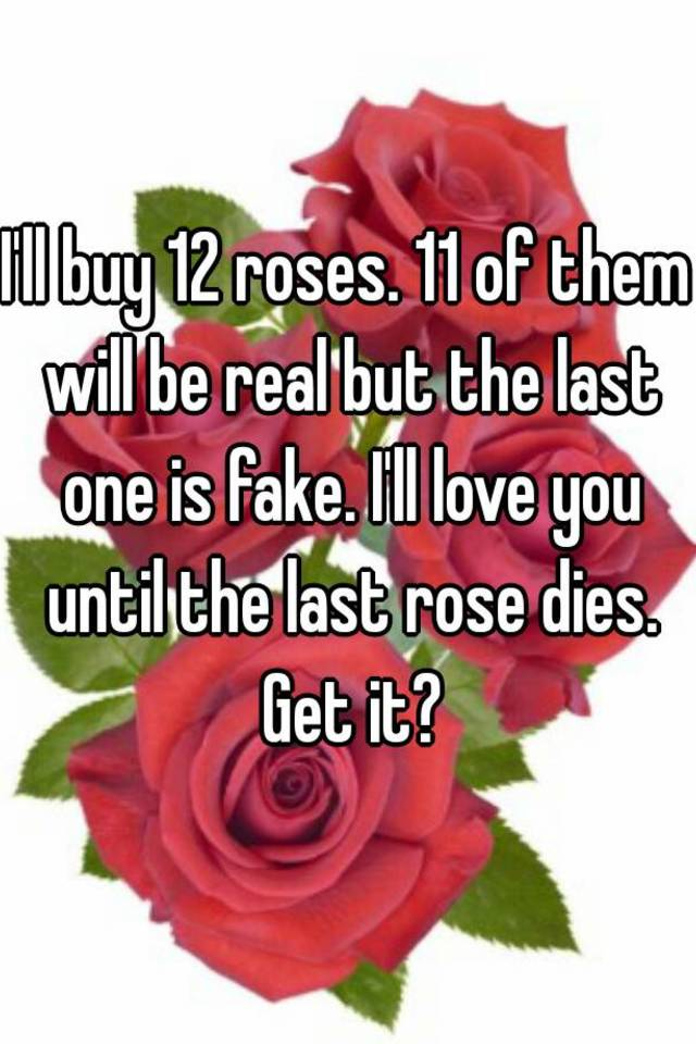 The You Dies Rose I Will Until Love Last