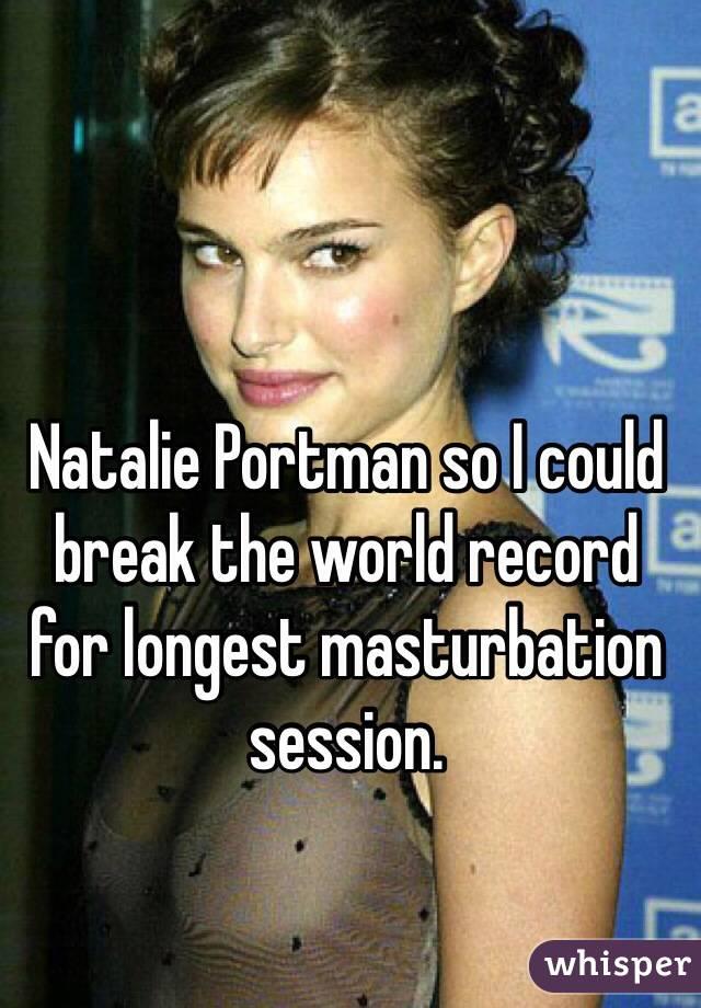 Longest masturbation