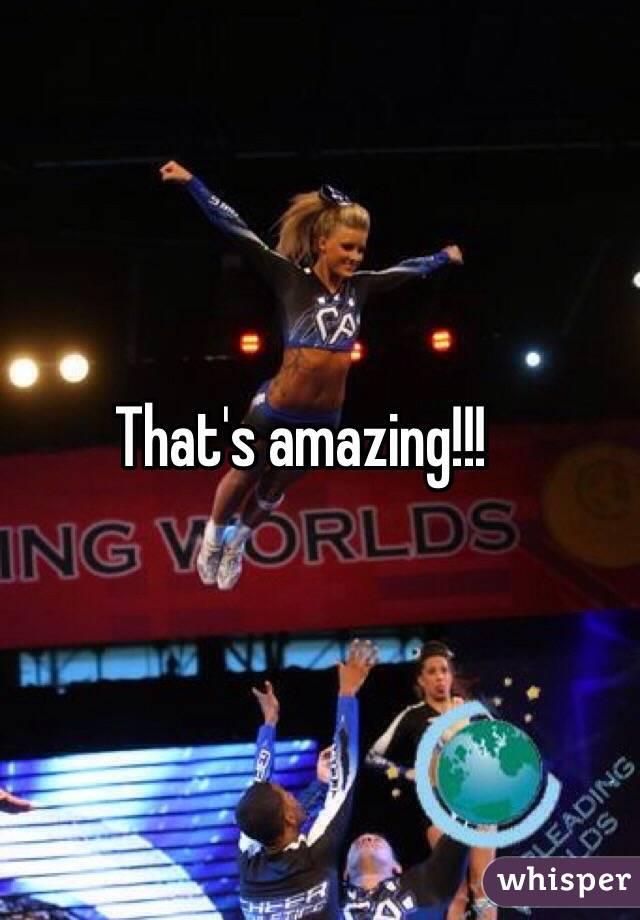 That's amazing!!!