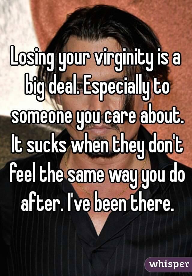 Is loosing virginity big deal