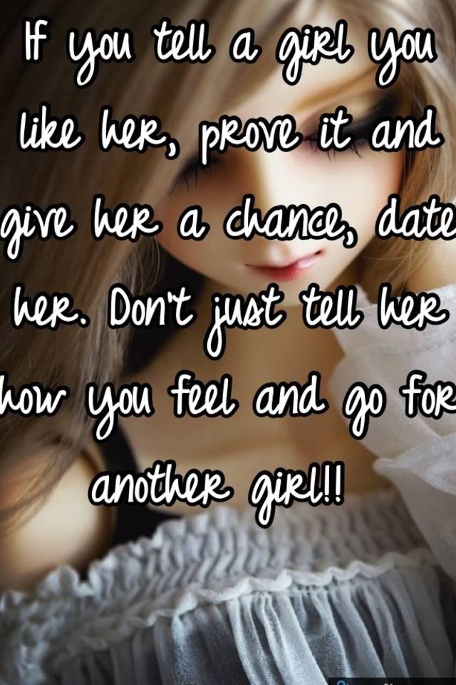 tell a girl