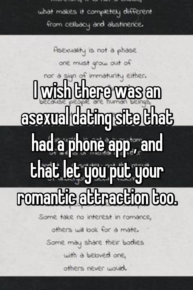 Is there a dating site for asexuals