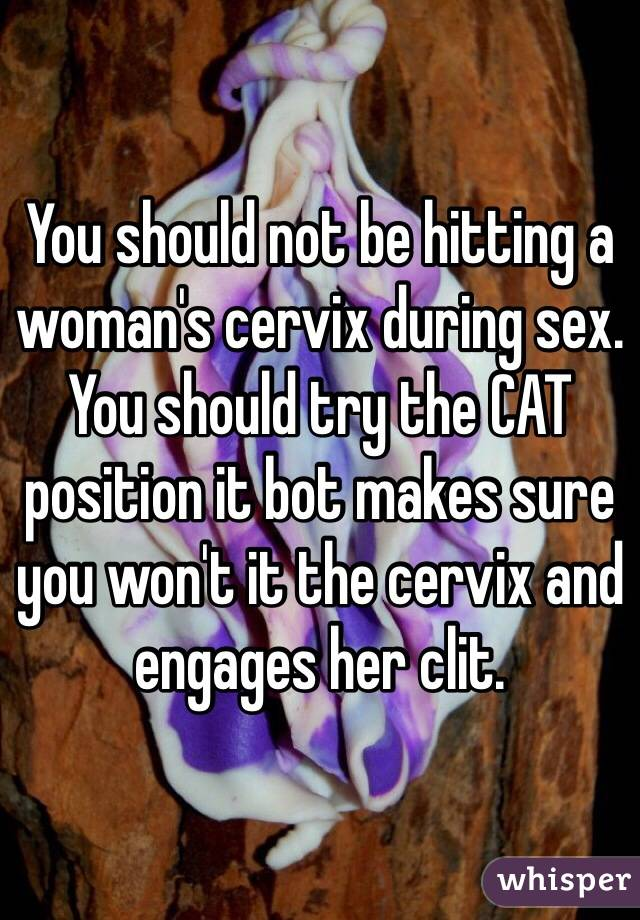 best position to hit cervix