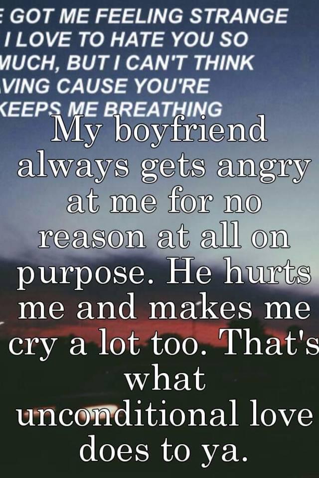 why am i mad at my boyfriend for no reason