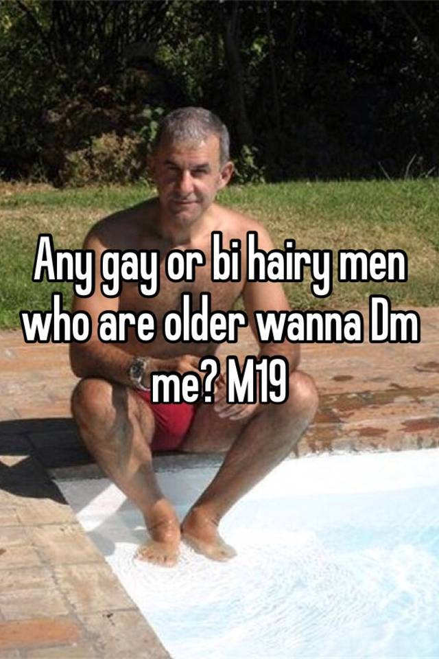 Hairy older gay men