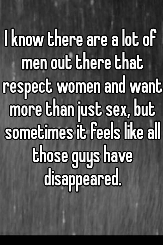 Women want sex more than men