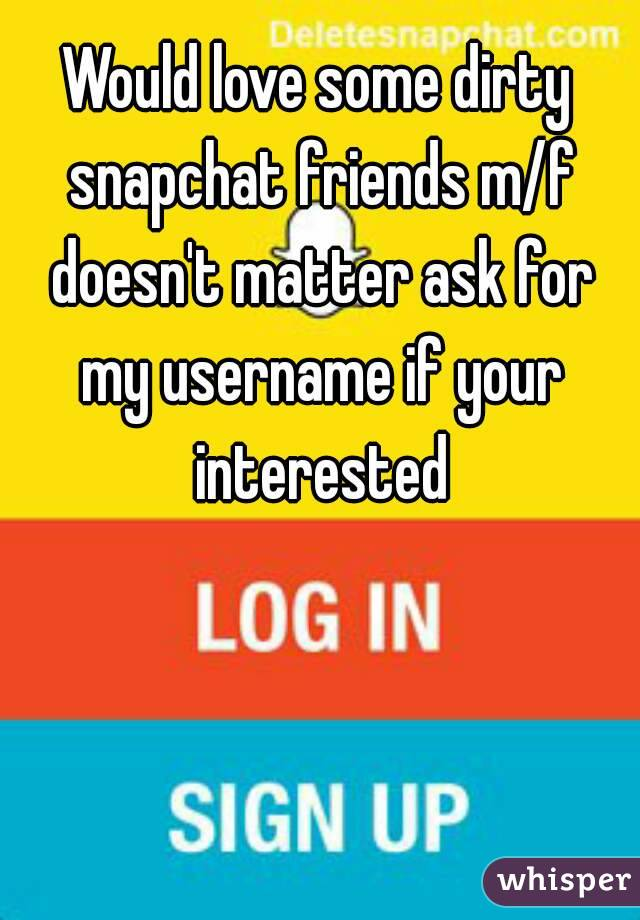 Dirty snapchat friends