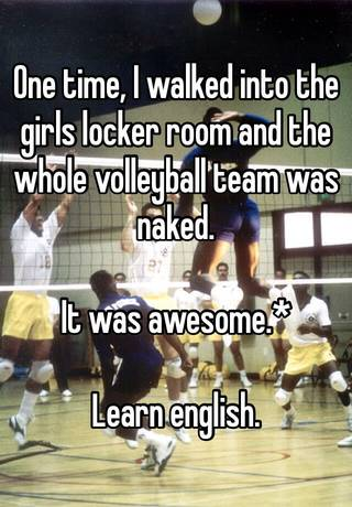 Volleyball locker room naked are absolutely