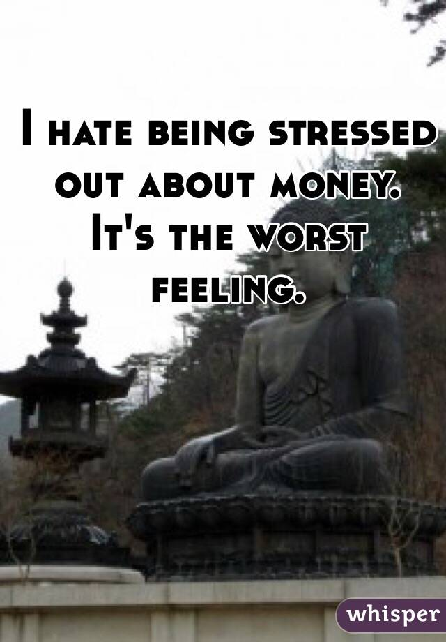 how to stop being stressed about money