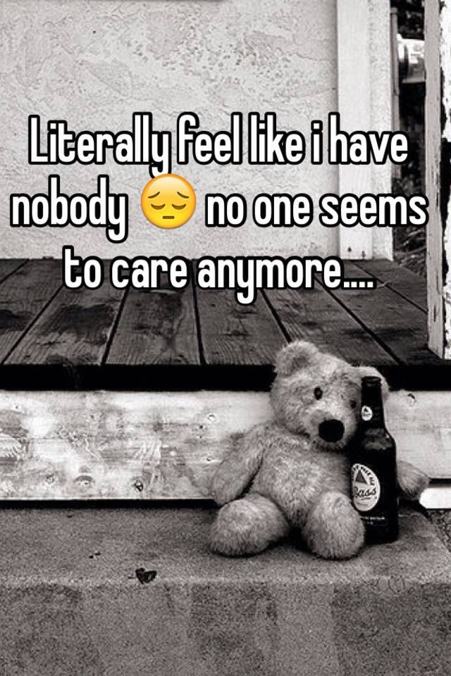 no one seems to care anymore
