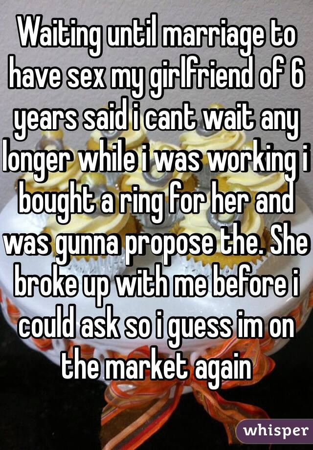 Girlfriend wants to wait until marriage