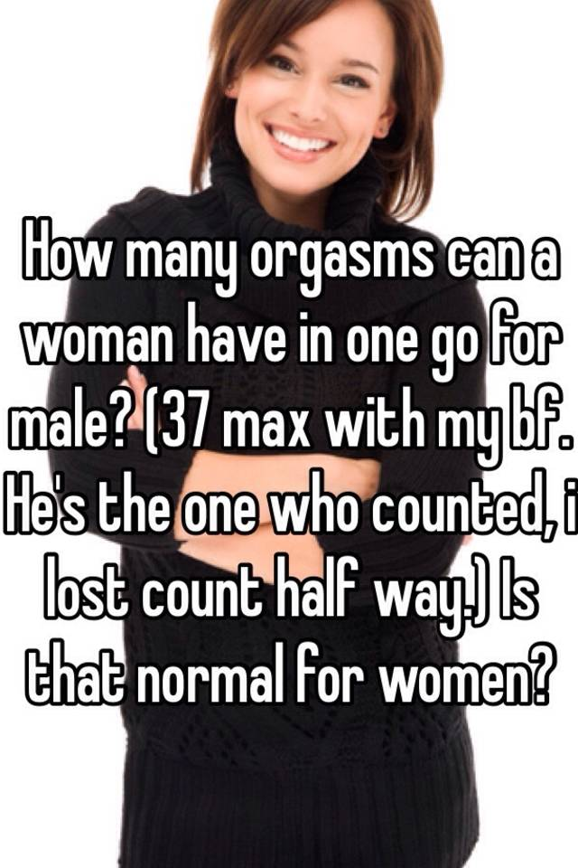 how many orgasms is normal