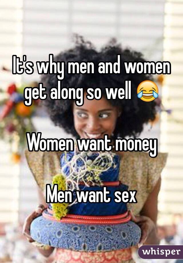 I want money for sex