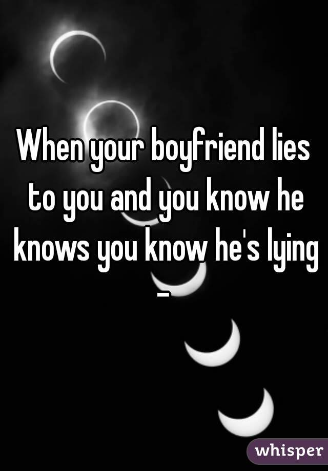 When Your Partner Lies To You