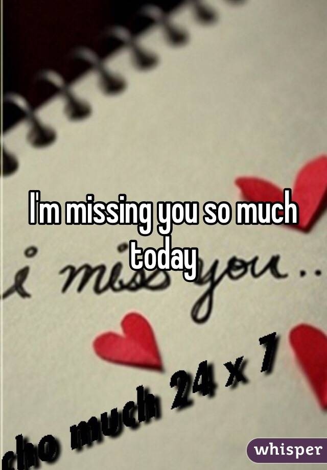 M missing you