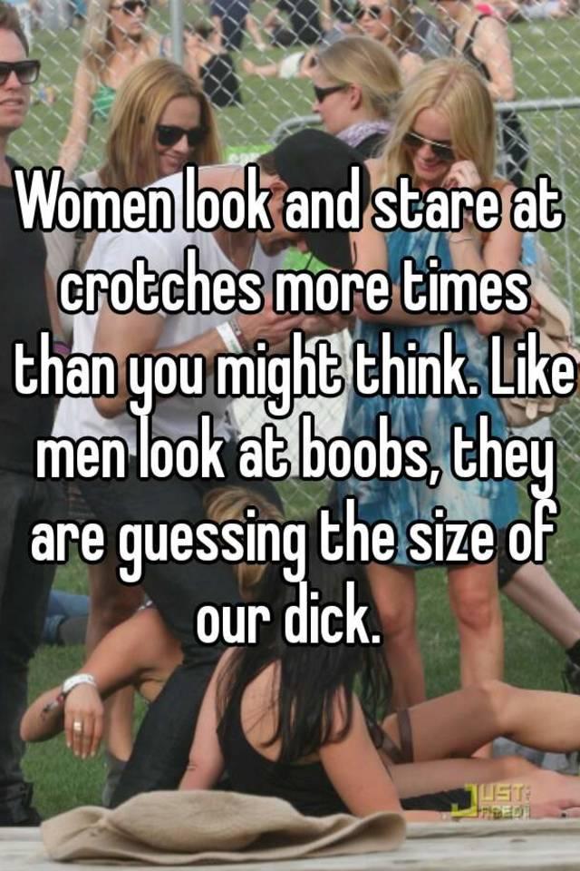Women looking at mens bulges