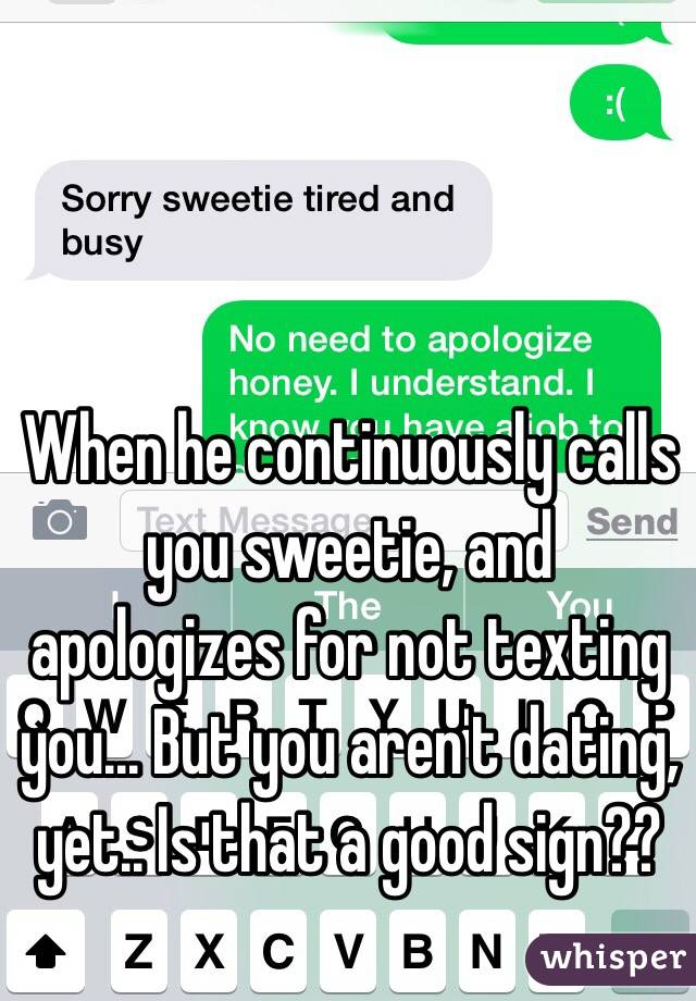 What Does It Mean If A Girl Calls You Sweetie