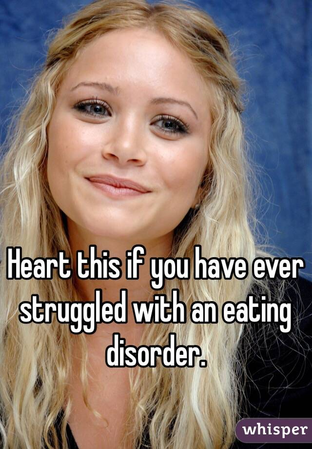 Heart this if you have ever struggled with an eating disorder.