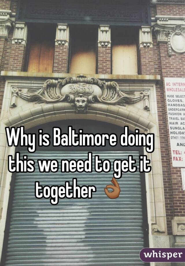 Why is Baltimore doing this we need to get it together 👌🏾