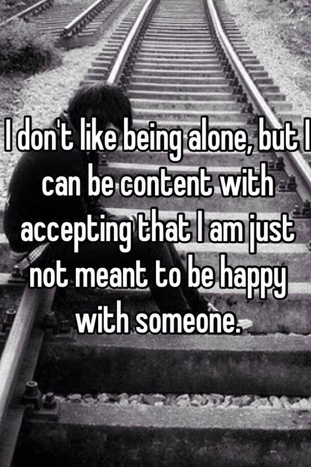 Being content alone