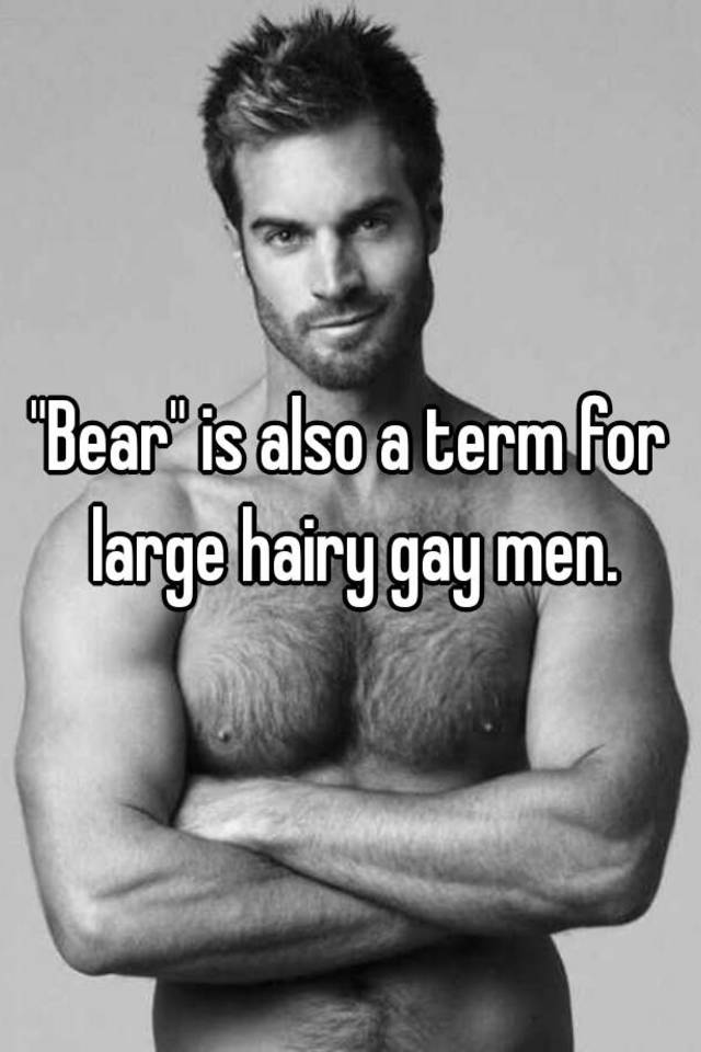 Masculine hairy gay men