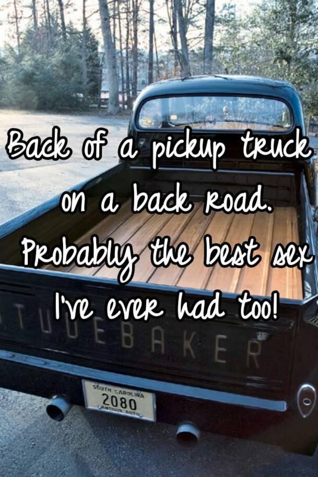 Best sex ever in a truck