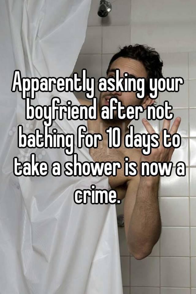 shower with boyfriend