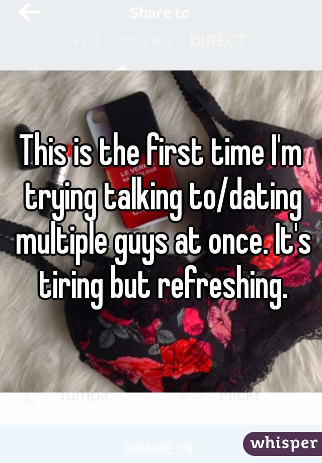 Dating a guy for the first time