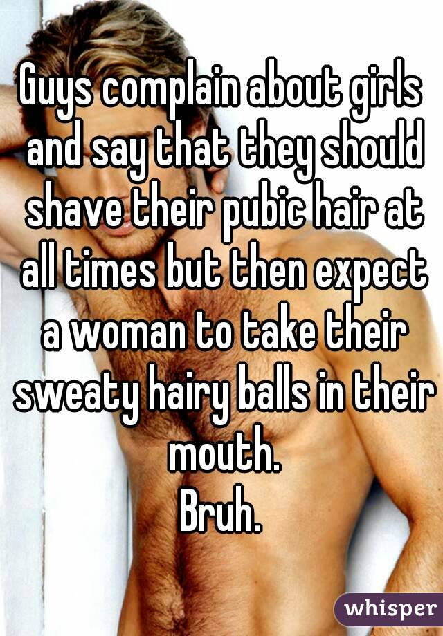 Why do girls shave their pubes