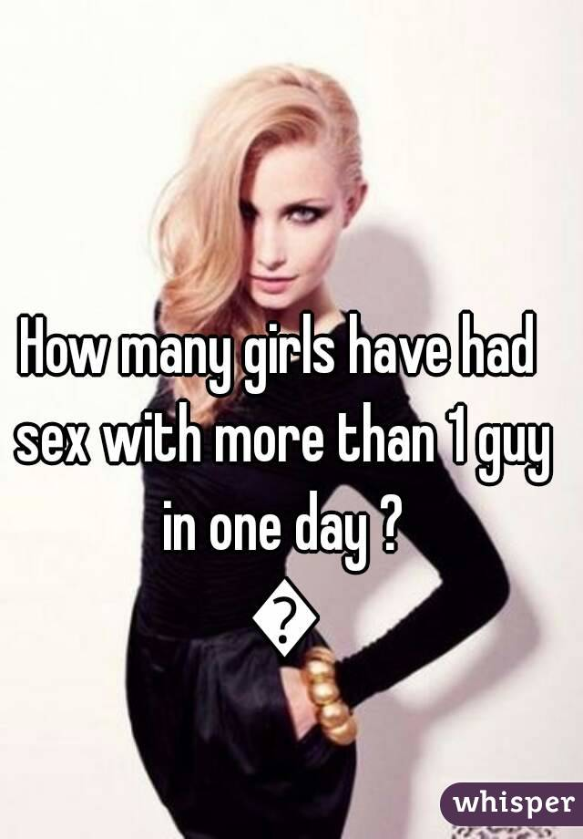 Girls have more sex