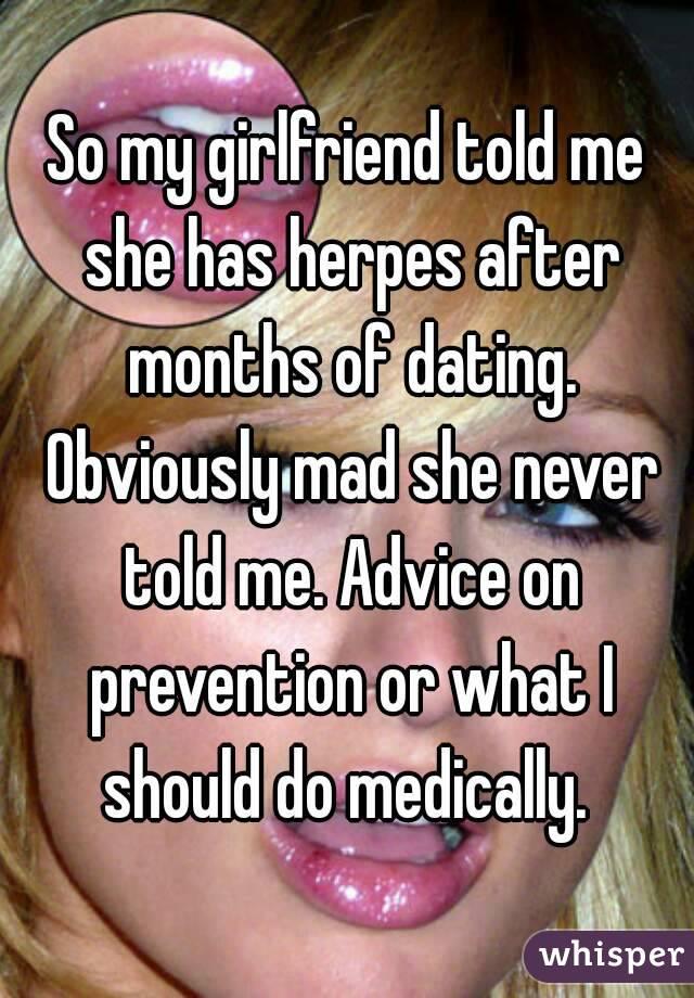 Girlfriend has herpes