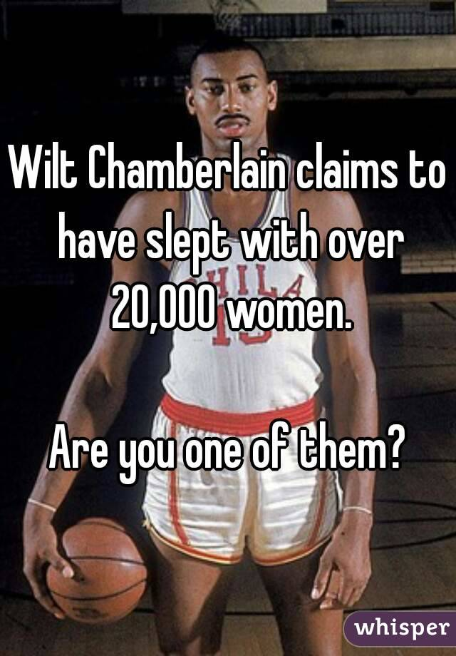 Wilt chamberlain women slept with