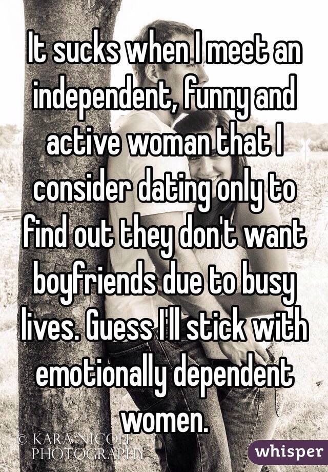 dating the independent woman