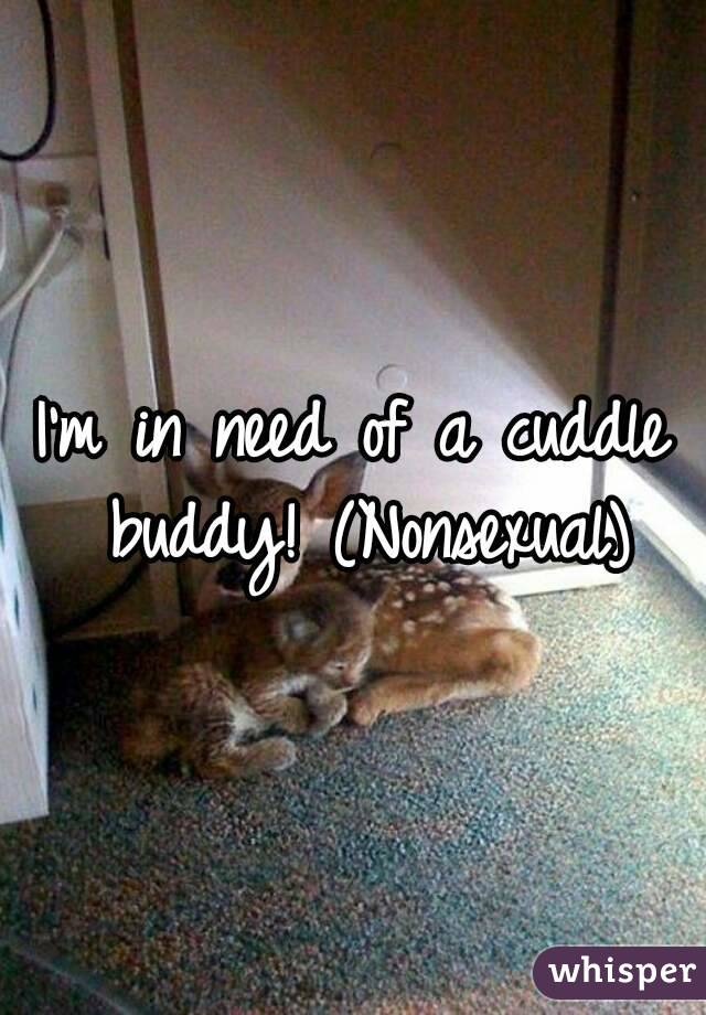 I'm in need of a cuddle buddy! (Nonsexual)