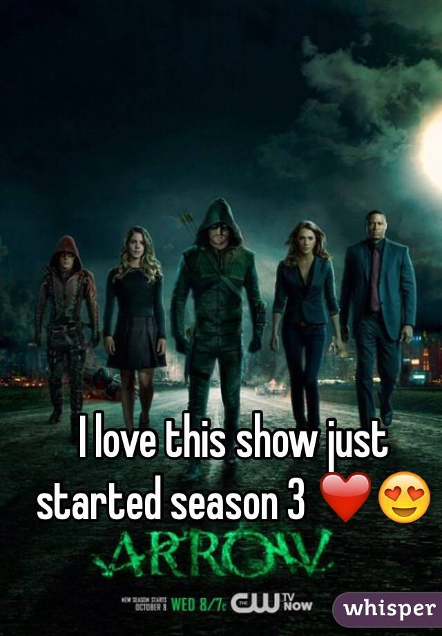 I love this show just started season 3 ❤️😍