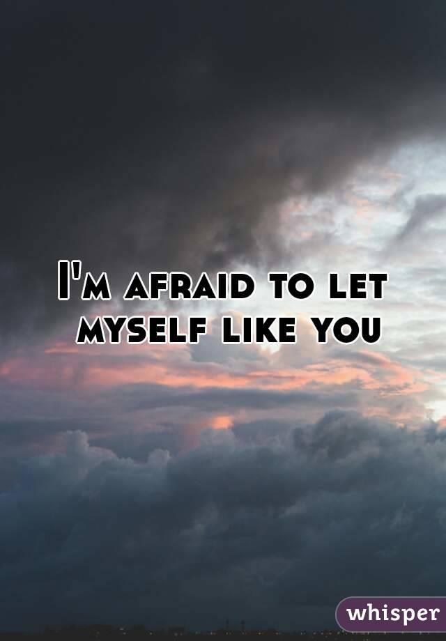 I'm afraid to let myself like you
