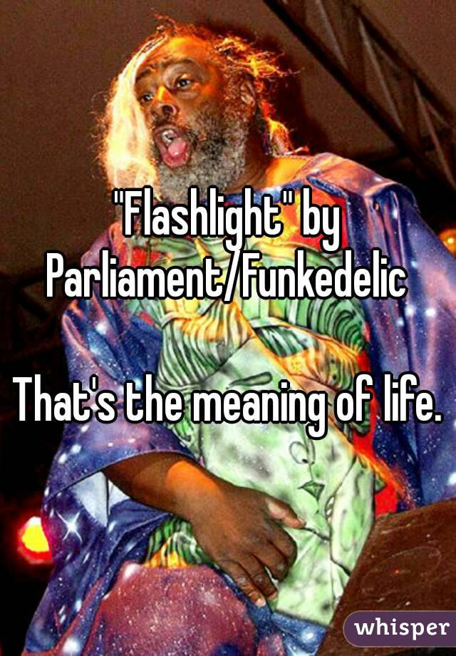 """Flashlight"" by Parliament/Funkedelic  That's the meaning of life."