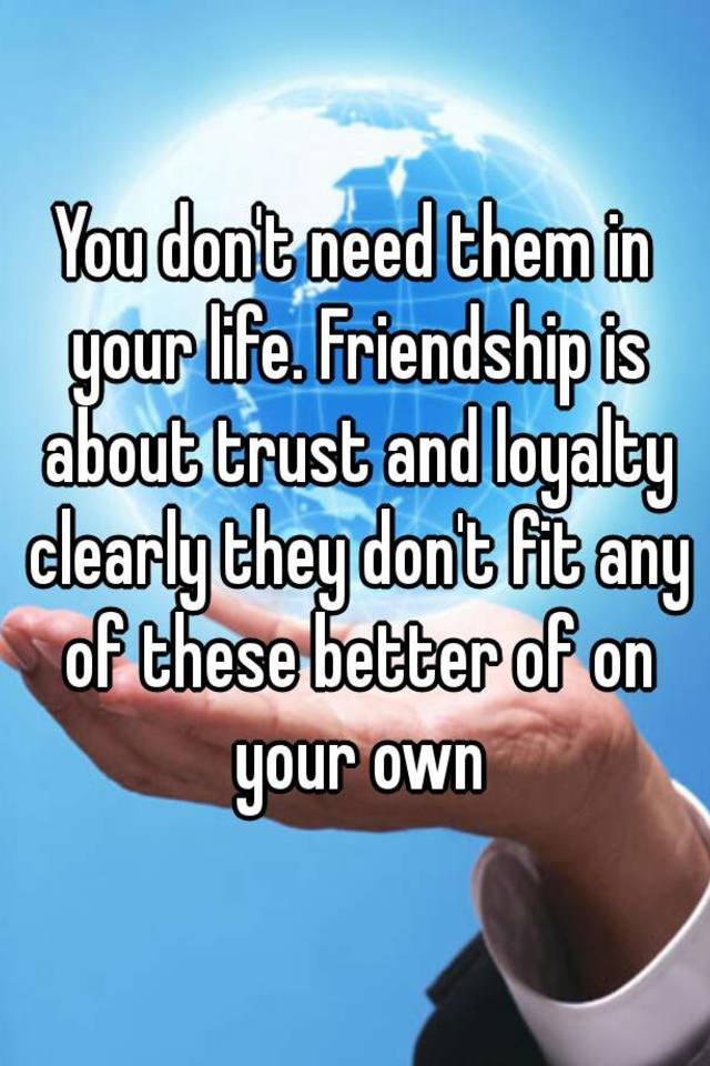 friendship and trust