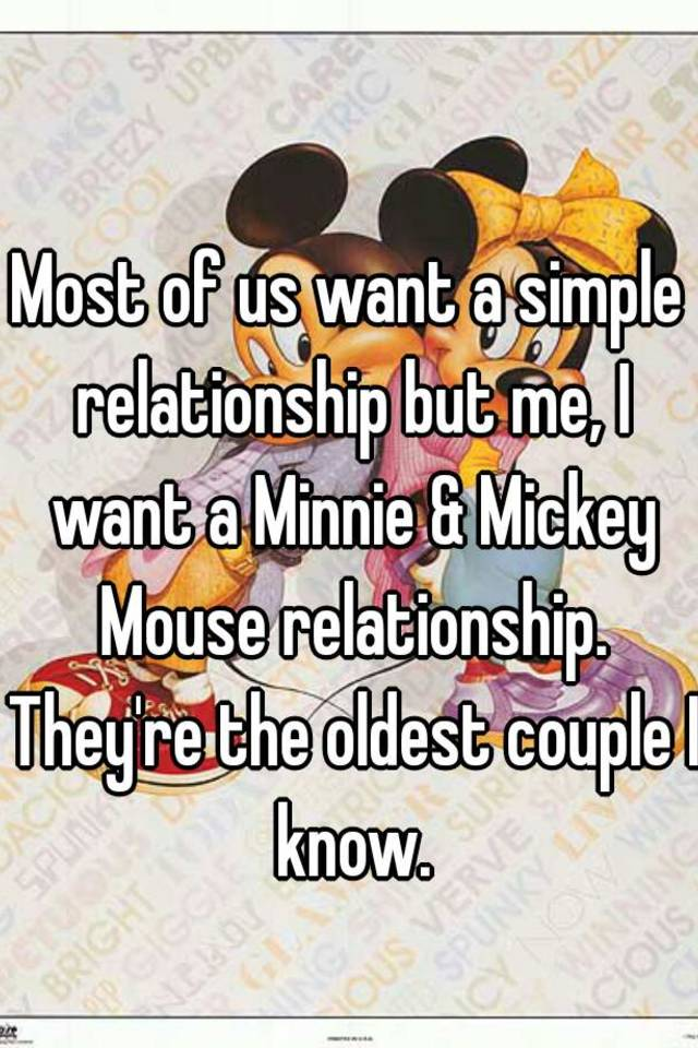 mickey and minnie relationship
