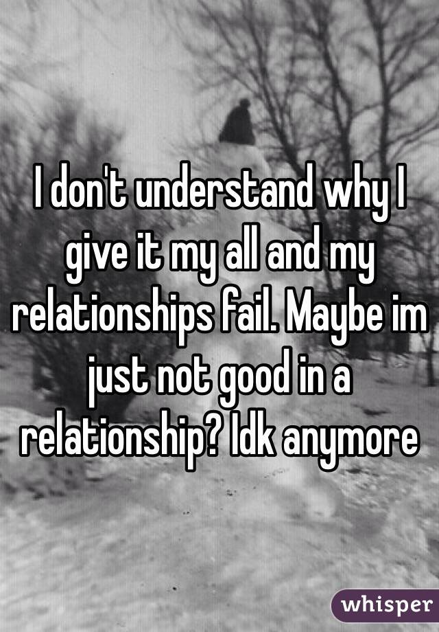 Why Did My Relationship Fail