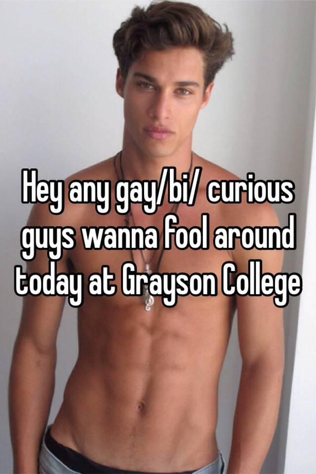 Bi curious dudes