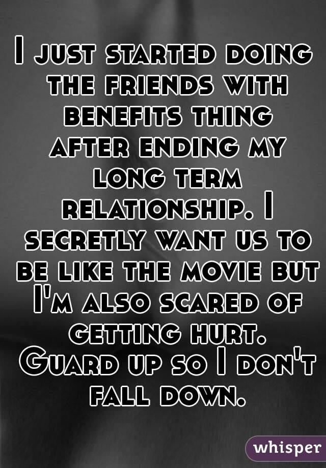 Ending a friends with benefits relationship