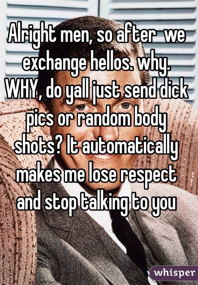 why do men send dick pics