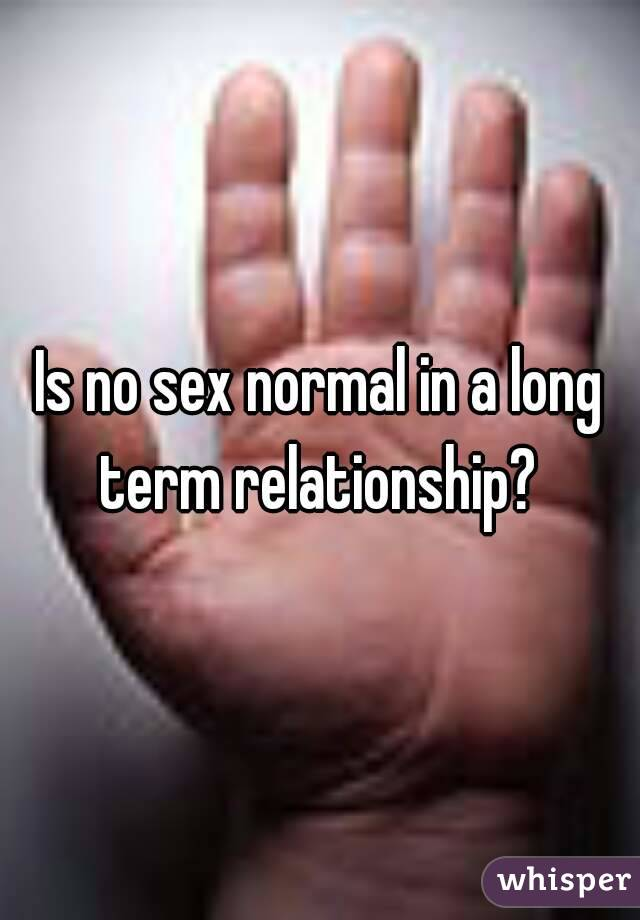No sex long term relationship